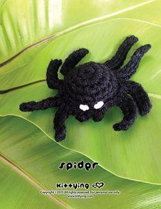 Halloween Spider Amigurumi  Kittying Crochet Pattern by kittying.com from mulu.us