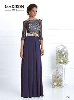 vestido de boda y fiesta largo azul