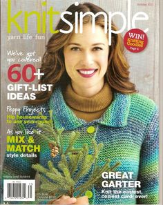Knitsimple, Knit Simple Magazine, Holiday 2013, Over 60 Designs, Knitting Paterns Book by RecycleandRepurpose on Etsy