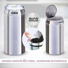 Poubelle automatique No Touch Inox 42 L 39.95 €