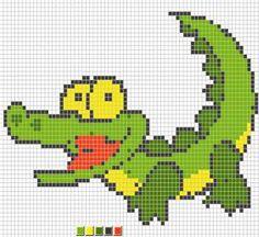 Scheme cross stitch Crocodile