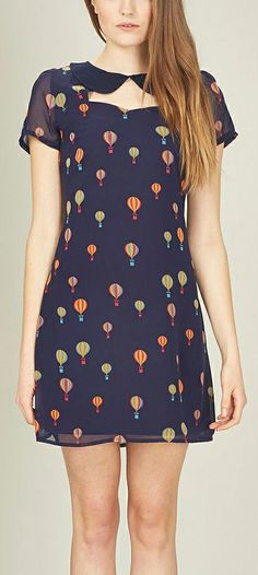 Cute Hot Air Balloon Dress with Rounded Collar (by Sugarhill Boutique)