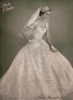 Vintage wedding gown #vintagewedding