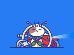Cute GIFs Of Cats Illustrated As 'Batman' & Characters From Japanese Anime - DesignTAXI.com