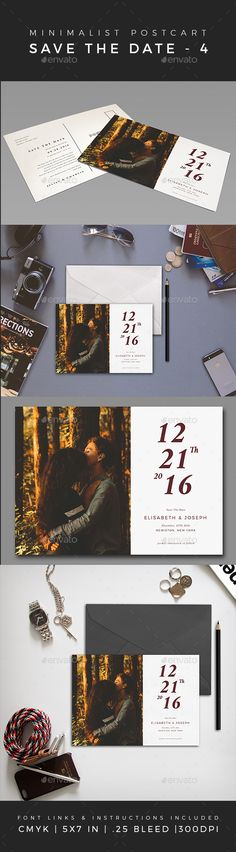 Minimalist Save The Date Postcard Template PSD. Download here: https://graphicriver.net/item/minimalist-save-the-date-postcard-volume-4/16921232?ref=ksioks