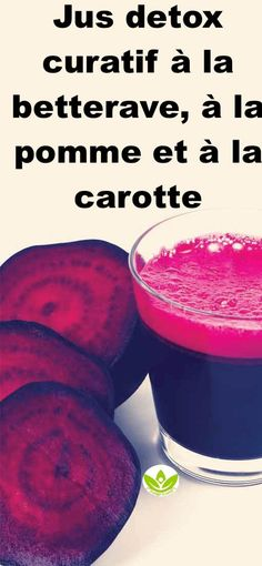 Kurativer Entgiftungssaft mit Rote Beete, Apfel und Karotte # Rote Beete # Detoxify_the_body Juice Cleanse Recipes, Detox Diet Drinks, Natural Detox Drinks, Fat Burning Detox Drinks, Detox Recipes, Detox Juices, Colon Cleanse Detox, Body Cleanse, Cleanse Diet