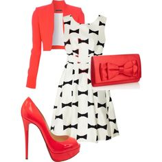 A fashion look from March 2013 featuring Kate Spade dresses, Victoria Beckham blazers and Christian Louboutin pumps. Browse and shop related looks. Fashion Moda, Work Fashion, Modest Fashion, Fashion Outfits, Womens Fashion, Fashion Trends, Apostolic Fashion, Woman Outfits, Modest Outfits