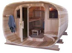Another barrel sauna Shed To Tiny House, Tiny House Design, Spa Jacuzzi, Barrel Sauna, Garden Pods, Traditional Saunas, Sauna Heater, Outdoor Sauna, Sauna Design