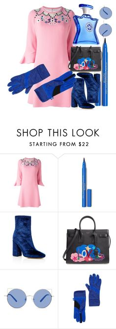 """LILY PINK"" by blueviolette on Polyvore featuring moda, Peter Pilotto, E L L E R Y, Yves Saint Laurent, Matthew Williamson, Isotoner, Bond No. 9, waystowear e velvetloafers"