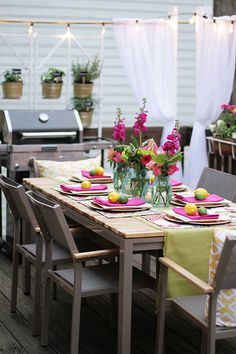 Patio Dining Set Center of Stunning Deck Makeover