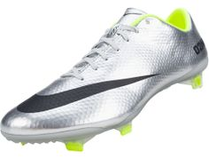 Nike Mercurial Vapor IX FG Soccer Cleats - Metallic Silver with Volt...Available at SoccerPro right Now!