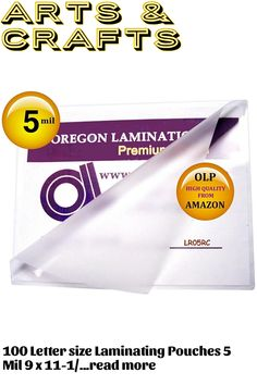 100 Letter size Laminating Pouches 5 Mil 9 x 11-1/2 inch with top 15% world high clarity rated clear glossy finish protects and enhances colors. 5 mils thick per Flap provides clear flexible low cost paper protection. Oregon Lamination Premium Letter laminating pouches have small radius rounded corners for a professional finish.OLP 9 x 11.5 Laminating Sleeves are metric size 229mm X 292mm and ...