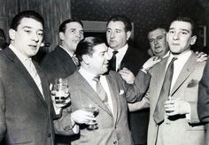Ronnie Kray, unknown, Terry Allen, Pat Connolly, 'Old Steff' and Reggie Kray at the Regal. Terry Allen, The Krays, Mafia Gangster, Unseen Images, Unhappy Marriage, Hard Men, Pose For The Camera, All I Ever Wanted, Twin Brothers