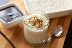 vanilla bean vegan rice pudding