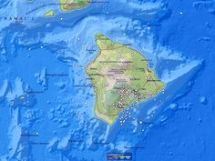 Big Island earthquake map, 12 months between June 2012 and May 2013.