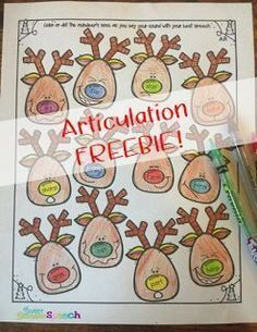Christmas Articulation Activity to use in Speech Therapy - FREE Download!