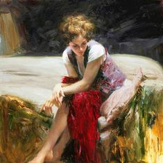 "Impresionism - Pino Dangelico: ""Whispering Heart"", óleo."