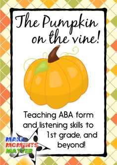 A fun song to teach ABA form! Fall and harvest themed (not necessarily holiday) and a chance for you to add in new lyrics if you want! Great activity for younger kiddos! Kindergarten Music, Teaching Music, Teaching Career, Preschool Songs, Music Education Activities, Physical Education, Health Education, Movement Activities, Special Education