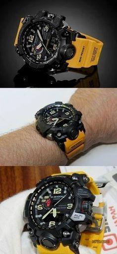 5282a24c6ff Casio G-Shock Mudmaster Black Dial SS Chrono Quartz Men s Watch - unique  mens jewelry