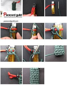 Making a paracord pouch to protect your riches! After losing three baby bottles in under a year as well as a broken phone, all due to fall damage, I decided that I better start wrapping valuables, especially technology in paracord wraps. Paracord Tutorial, Bracelet Tutorial, Paracord Ideas, Paracord Braids, 550 Paracord, Paracord Bracelets, Macrame Knots, Yarn Crafts, Lighter