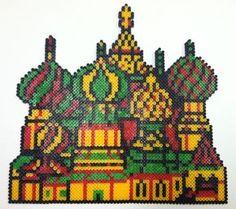 Perler Art: Tetris Kremlin by thewiredslain.deviantart.com on @deviantART