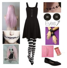 """""""Creepypasta OC - Ragdoll"""" by shadow-cheshire ❤ liked on Polyvore featuring Old Navy"""