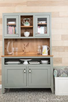 Diy Dining Room Buffet Awesome Dining Room Hutch Build Plans Houseful Of Handmade Buffet Hutch, Kitchen Hutch, Dining Room Buffet, Dining Room Walls, Dining Room Design, Dining Room Furniture, Hutch Furniture, Furniture Buyers, Bar Kitchen