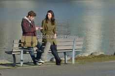 Vancity Filming spotted Rachel Nichols and Erik Knudsen filming a scene in which Kiera shows the piece of the time travel device to Alec for the premiere episode of Season 2.