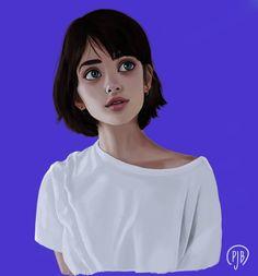 Feeling blue? #ilustración #illustration #krita #kritaart #digitalart #conceptart #paulajbueno #paulajb #pjb #drawing #blue #spring
