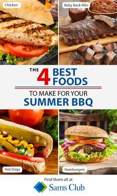 Everybody loves options, so this summer, give the people what they want with a variety of delicious BBQ dishes from Sam's Club! Everyone knows that no BBQ is complete without hamburgers and hot dogs, but what about providing your guests with a few additional dishes like chicken sandwiches or BBQ ribs to really turn up their appetite? Check out samsclub.com to find everything you need to keep your guests guessing.