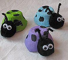 Cute Carton Ladybug Crawlers | AllFreeKidsCrafts.com