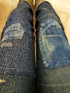 Sashiko jeans - I think I may have to do this with my favourite jeans that are falling apart!