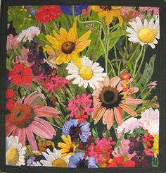 createcreatively:  Florabundance by Jane Blair Machine appliqued and quilted
