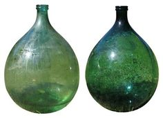 Vintage Large Green French Bottles / Sumally