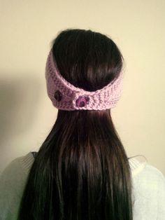 handmade flower hair band by theknittingpool on Etsy