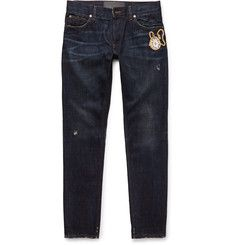 Dolce & Gabbana - Slim-Fit Embroidered Denim Jeans