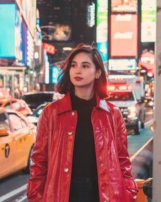 Versatile Fashion Pieces Coleen Garcia is Wearing in New York - Star Style PH Collar Bone Piercing, Fringe Jacket, Leather Jacket, Coleen Garcia, Johnson And Johnson, Hair Color Dark, Belted Coat, Oversized Coat, All Black Outfit