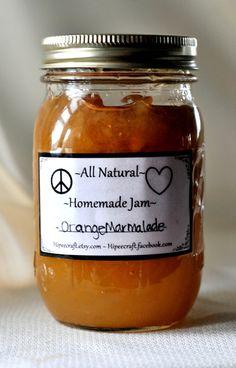 Homemade Marmalade Orange Marmalade All Natural Jam by Hipeecraft