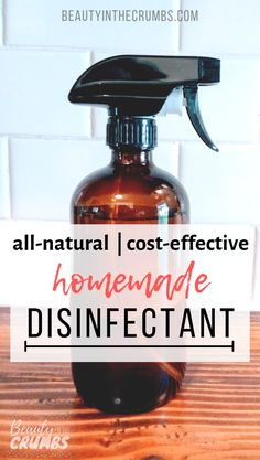 Learn how to make this DIY disinfectant spray that is all natural, non-toxic, cheap and how Lysol works. This spray uses essential oils, white vinegar and alcohol to deodorize, disinfect and kill mold. Natural Disinfectant, Disinfectant Spray, Homemade Cleaning Products, Natural Cleaning Products, Natural Cleaning Solutions, Cleaners Homemade, Diy Cleaners, Household Cleaners, Homemade Vinegar Cleaner