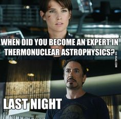Hope motivation will hit me once as hard as this guy. Tony Stark you sexy-smart badass <3
