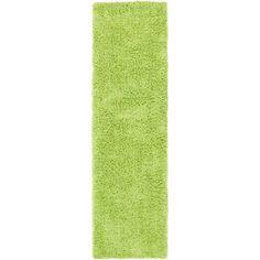 Classic Shag Ultra Lime (Green) 2 ft. 3 in. x 8 ft. Runner