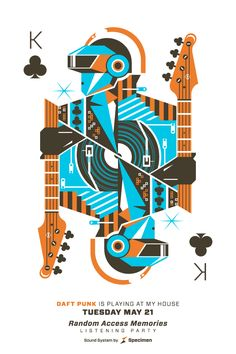 Tribute to Daft Punk by Eric Torres, via Behance
