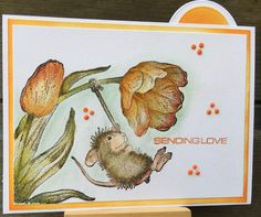 House Mouse Stamps, Blue Nose Friends, Baby Mouse, Tatty Teddy, Animal 2, 3d Cards, Rubber Stamping, Card Making Inspiration, Card Designs