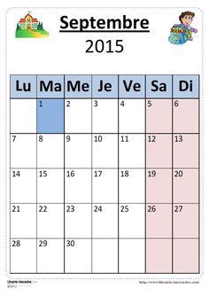 Plusieurs versions illustrées du calendrier scolaire 2015-2016 pour un affichage en classe.