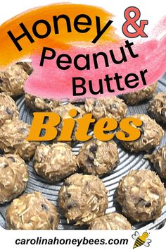 Peanut Butter Bites, Peanut Butter Oatmeal, Peanut Butter Recipes, Cooking With Honey, Eating Raw, Clean Eating, Chocolate Morsels, Honey Recipes, Energy Snacks