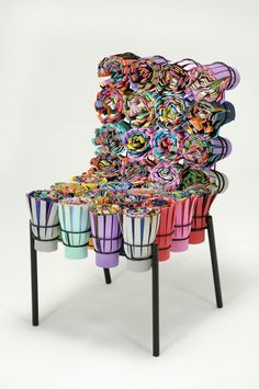 Masters Of Reinvention: The Campana Brothers Transform Unusual Materials Into Objects of Desire Sushi III chair by Estúdio Campana, 2002 (Photo Luis . Unusual Furniture, Funky Furniture, Classic Furniture, Art Furniture, Furniture Design, Furniture Dolly, Furniture Chairs, Furniture Outlet, Furniture Stores