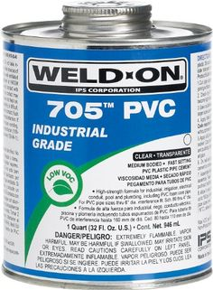 Weld-On 705 10097, Industrial Grade, Plumbing Cement, Medium-Bodied, Fast-Setting, 1/2 Pint, Can With Applicator Cap Clear, 2015 Amazon Top Rated Contact Cements #BISS