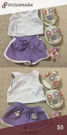 Build A Bear Clothing Piling around the shorts otherwise everything else is good condition. Other