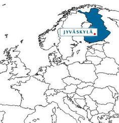 Map - Finland and Jyväskylä in Europe