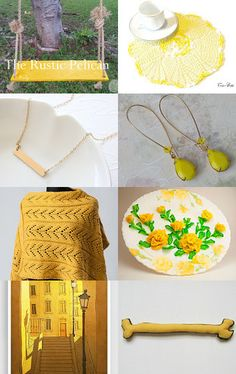 Mellow Yellow by Phyllis on Etsy--Pinned with TreasuryPin.com